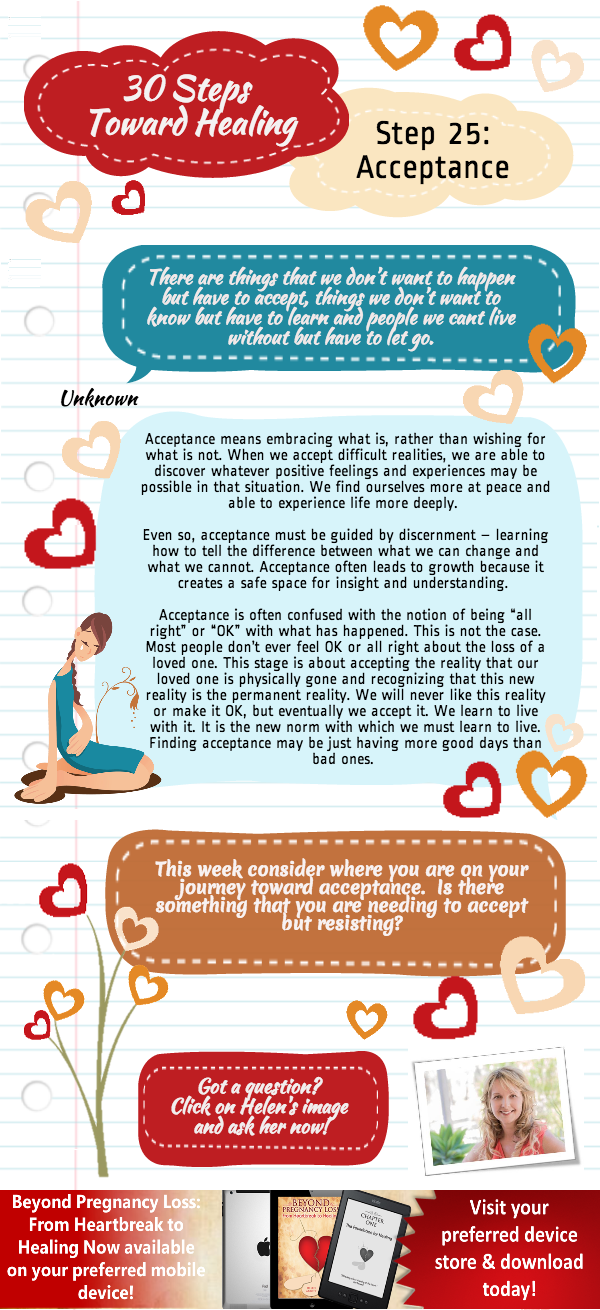 Beyond Preganancy Loss -Forgiveness - Step 26 of 30 Steps Towards Healing - Infographic