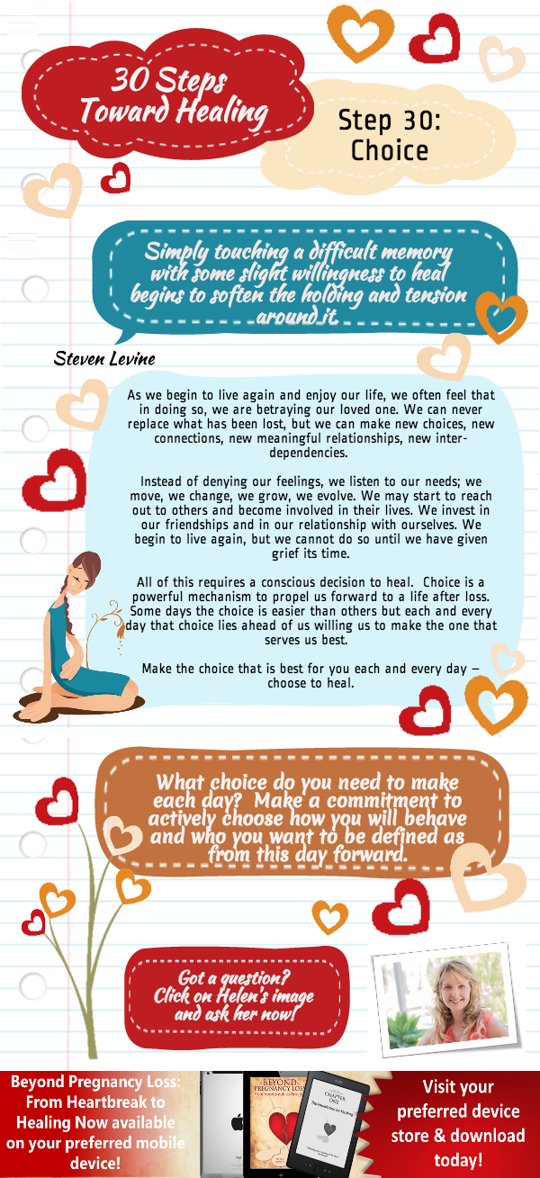 Beyond Preganancy Loss -Choice - Step 30 of 30 Steps Towards Healing - Infographic